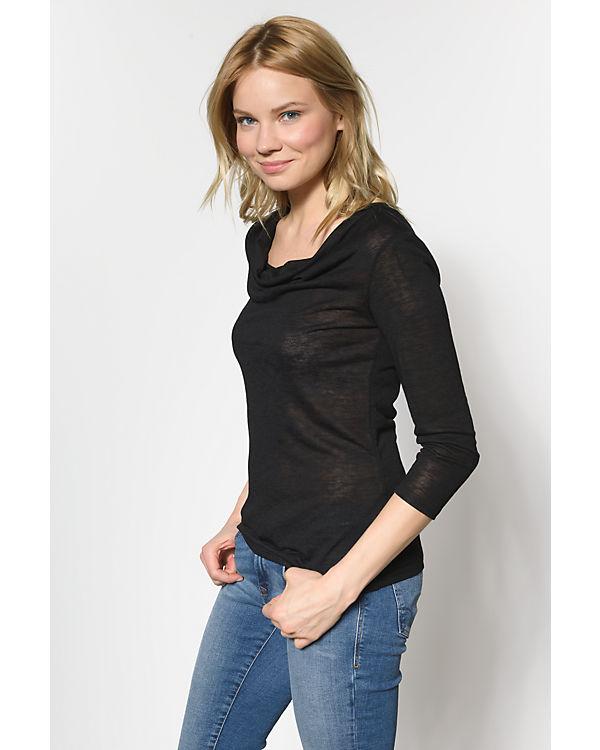 VILA 3/4-Arm-Shirt schwarz