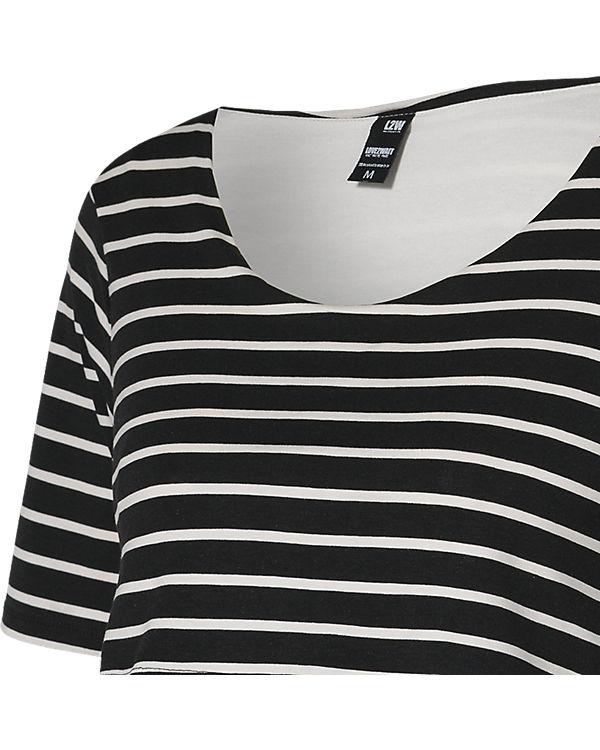 LOVE2WAIT Stillkleid Striped 3/4 Arm schwarz/weiß