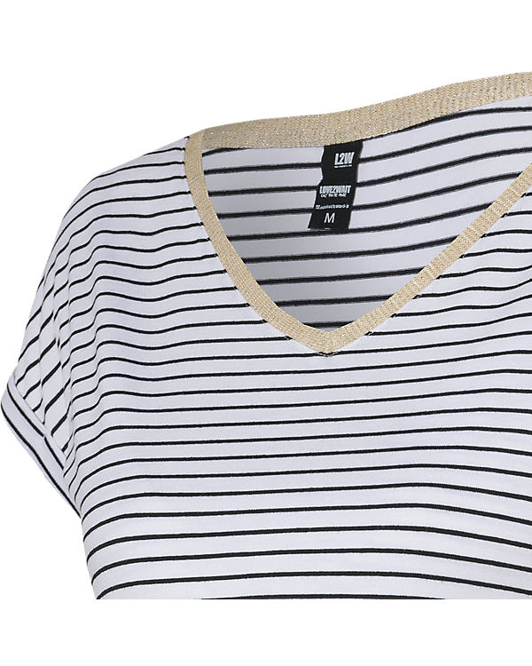 LOVE2WAIT Stillshirt Striped weiß