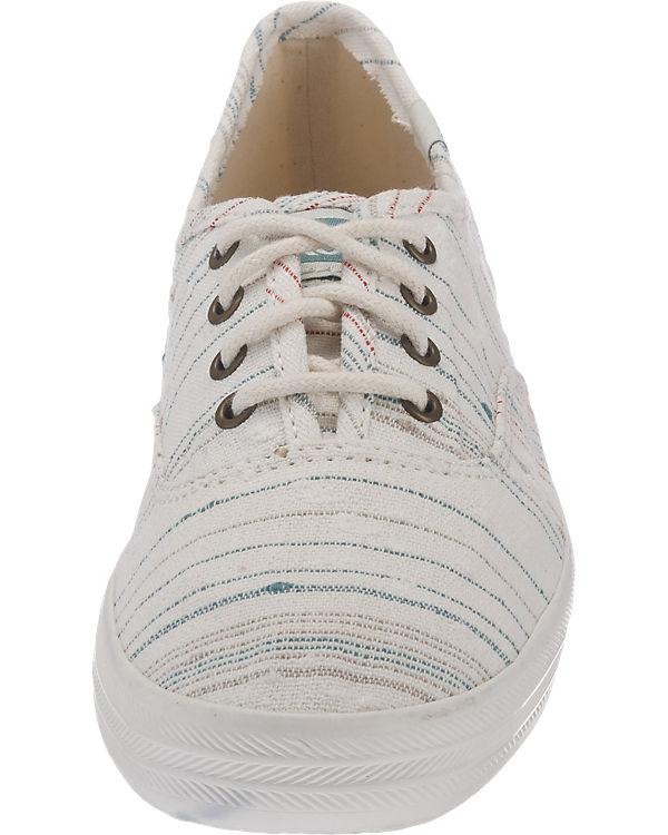 Keds Champion Slub Stripe Sneakers beige