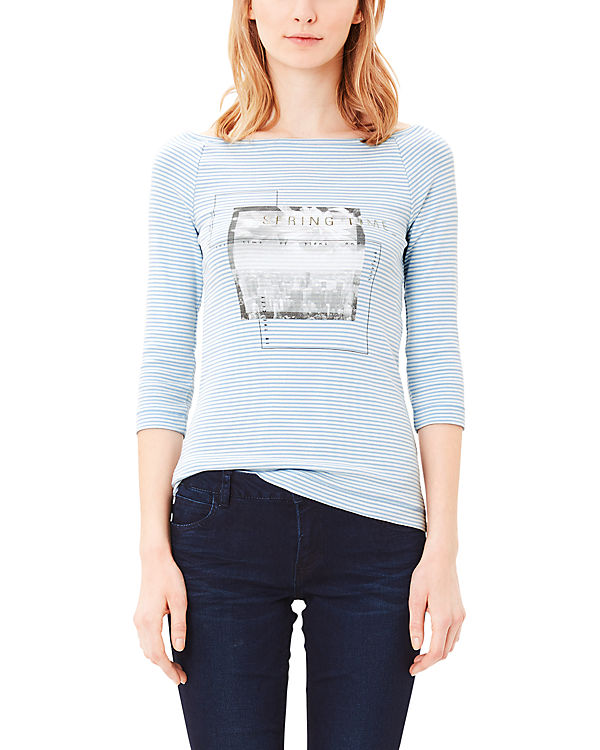 s.Oliver 3/4-Arm-Shirt hellblau