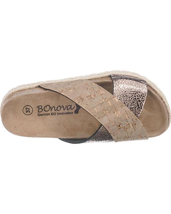 BOnova Mainzes Pantoletten beige-kombi