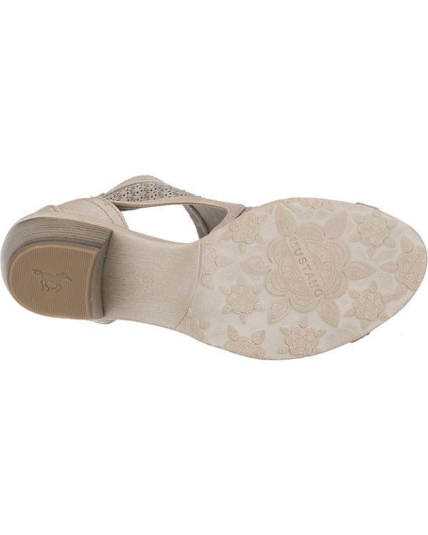 MUSTANG Sandaletten silber