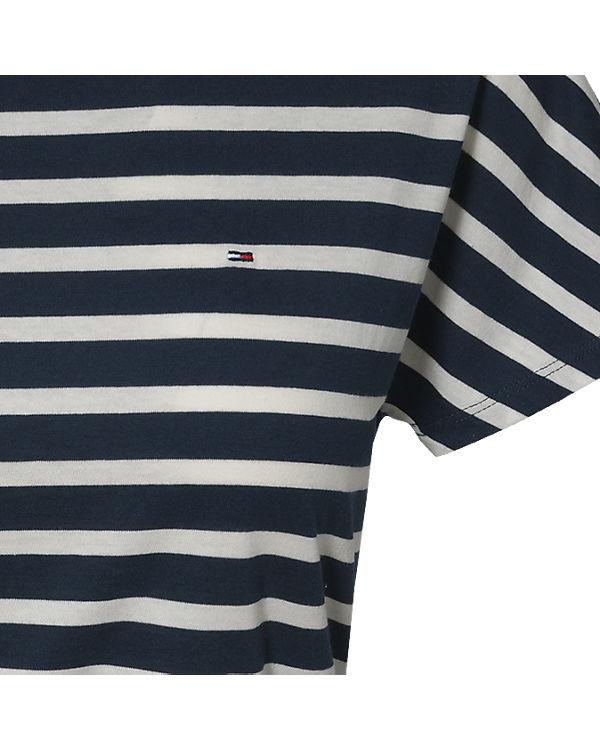 HILFIGER DENIM Jerseykleid blau/weiß