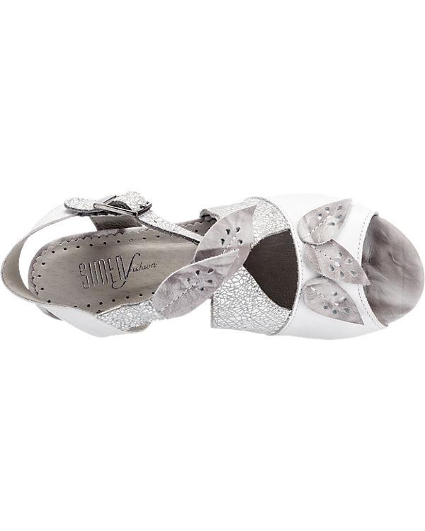 SIMEN Sandaletten grau-kombi
