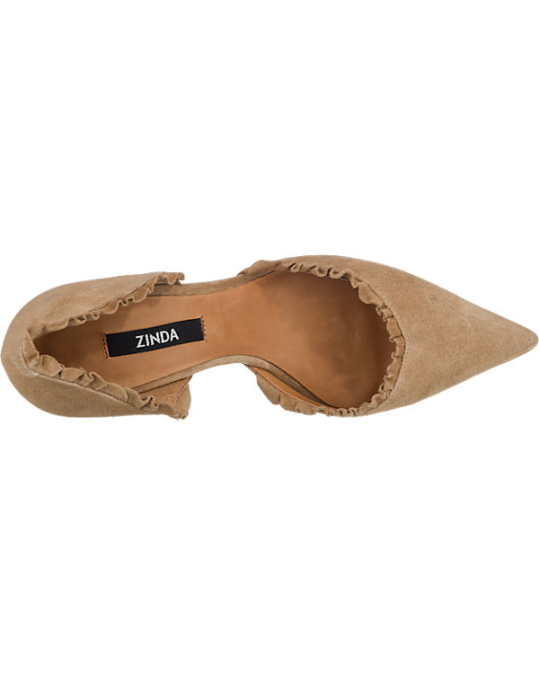 Zinda Pumps camel