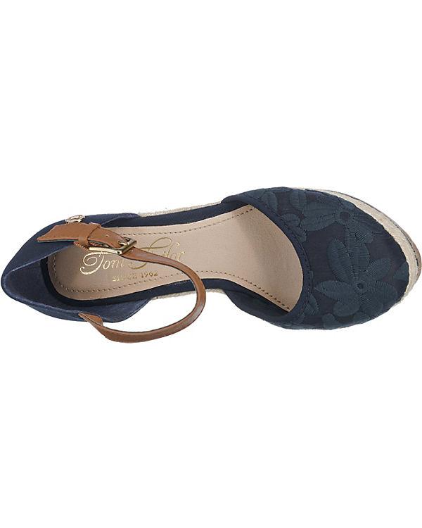 TOM TAILOR Sandaletten dunkelblau