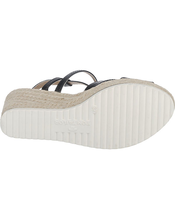 TOM TAILOR Sandaletten schwarz