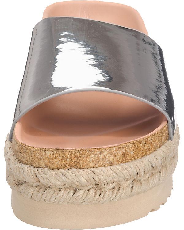 MTNG Dakota Pantoletten silber
