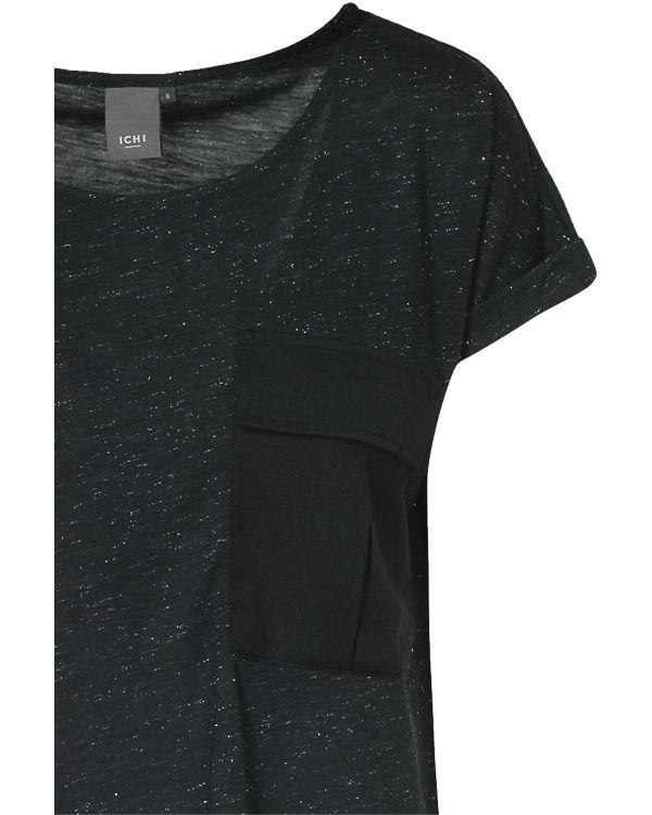 ICHI T-Shirt schwarz