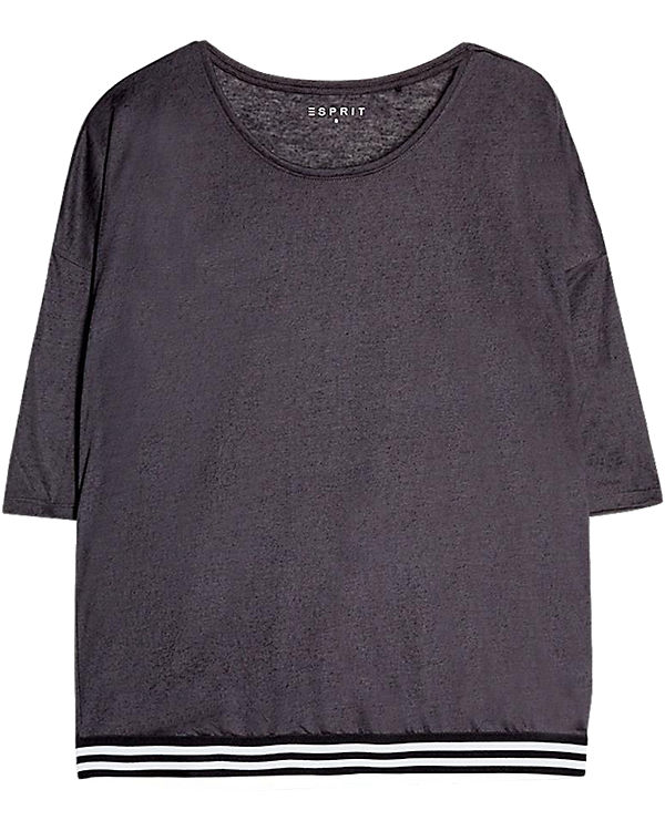 ESPRIT Sports 3/4-Arm-Shirt anthrazit