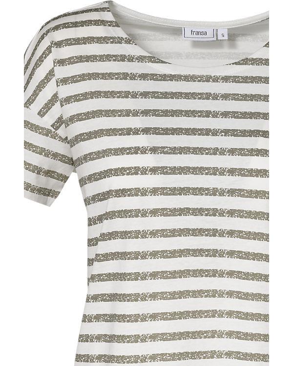 fransa T-Shirt weiß