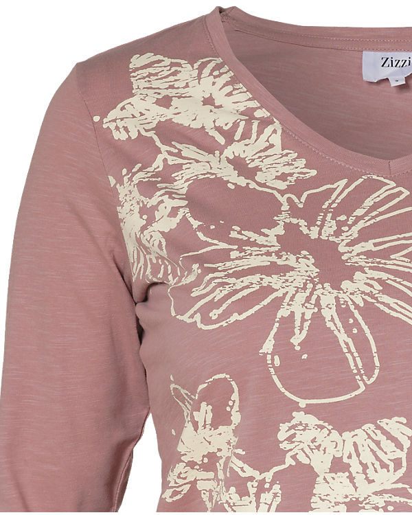 Zizzi 3/4-Arm-Shirt rosa