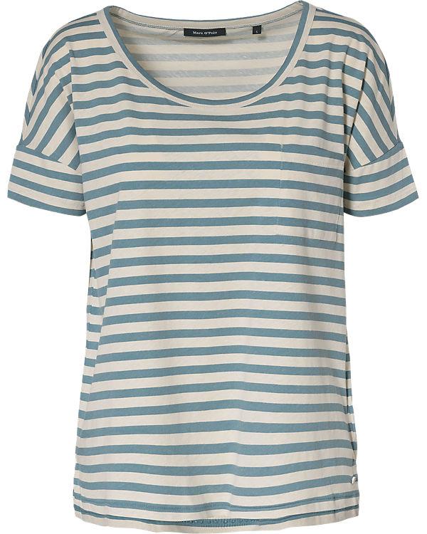 Marc O'Polo T-Shirt blau/weiß