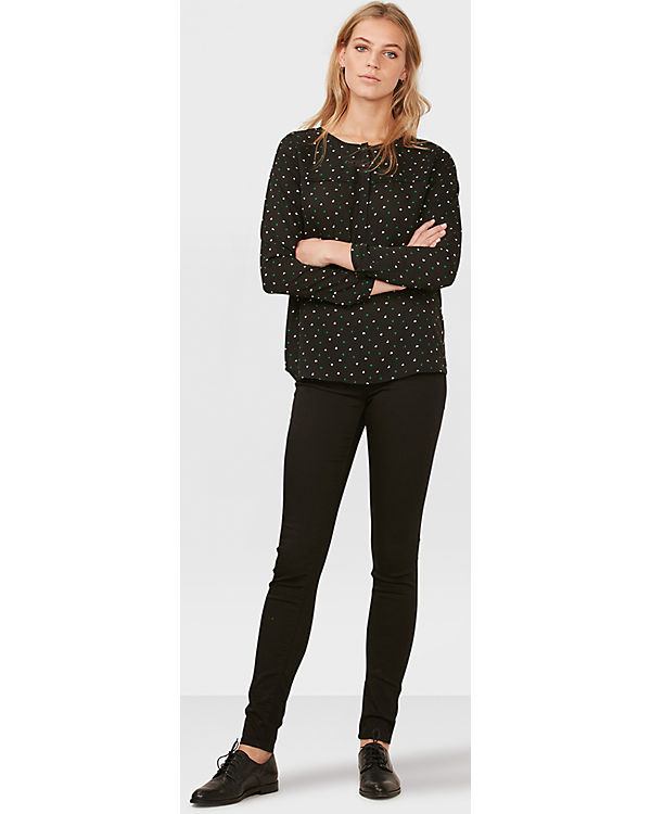 WE Fashion Bluse schwarz-kombi
