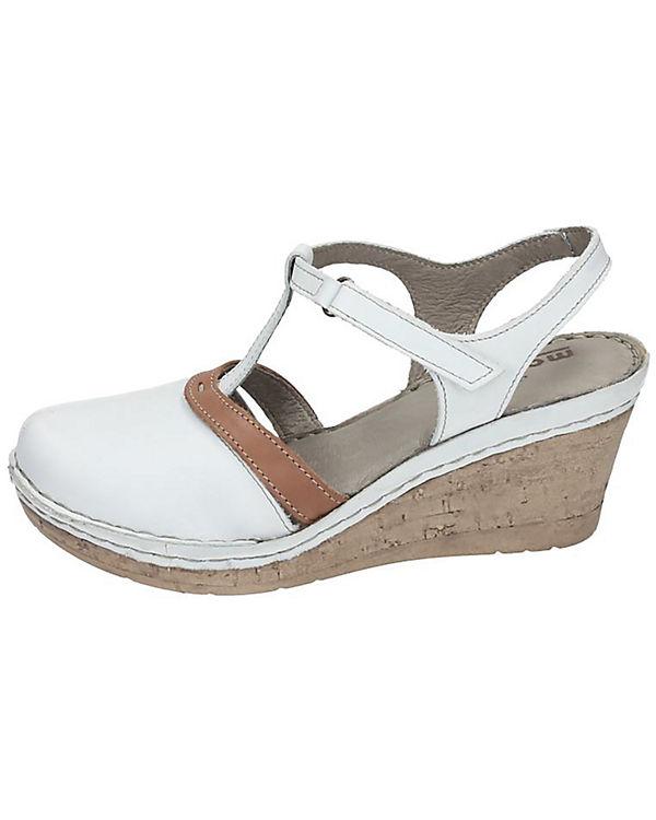 Manitu Sandaletten weiß