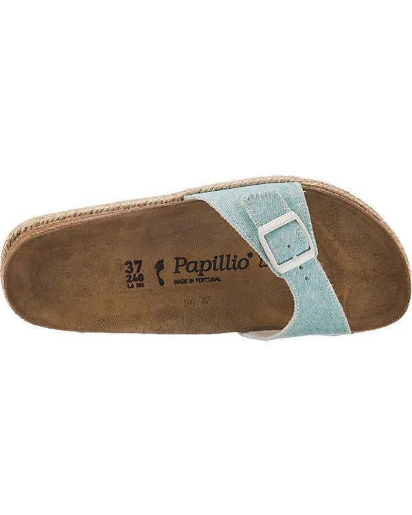 Papillio Pantoletten hellblau