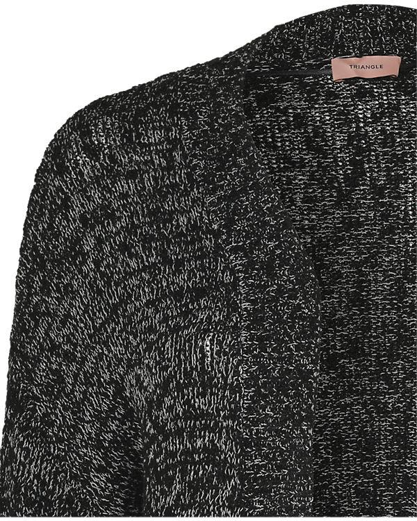 TRIANGLE Strickjacke schwarz
