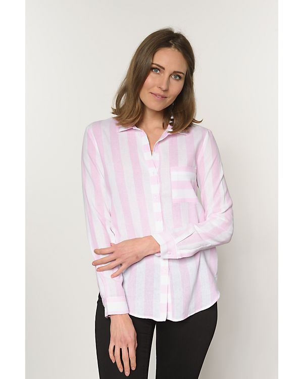 REVIEW Bluse rosa/weiß