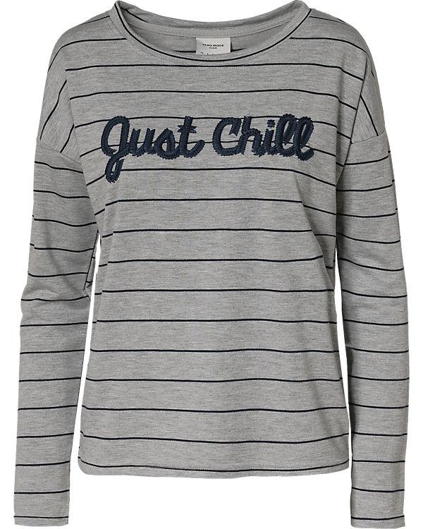 VERO MODA Sweatshirt blau/grau