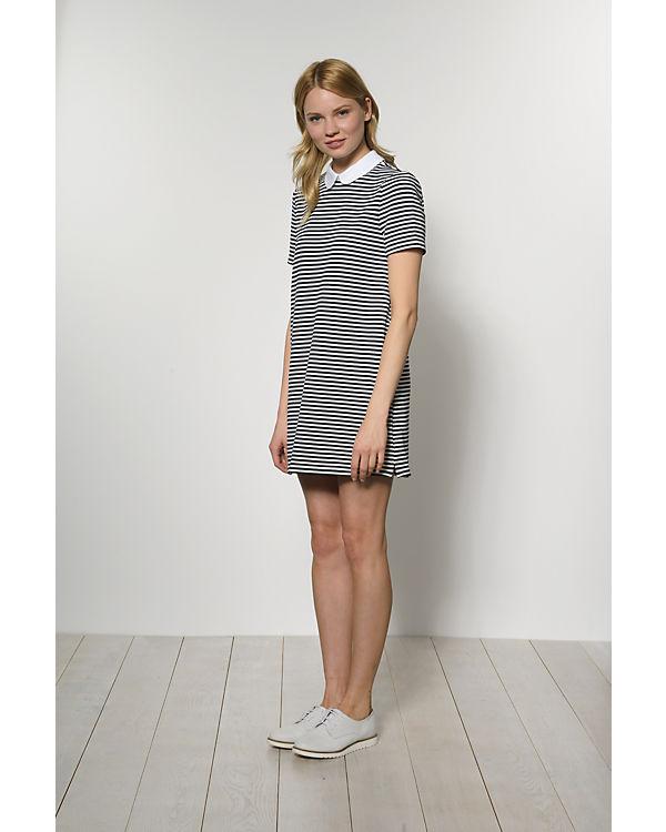 VERO MODA Kleid blau/weiß