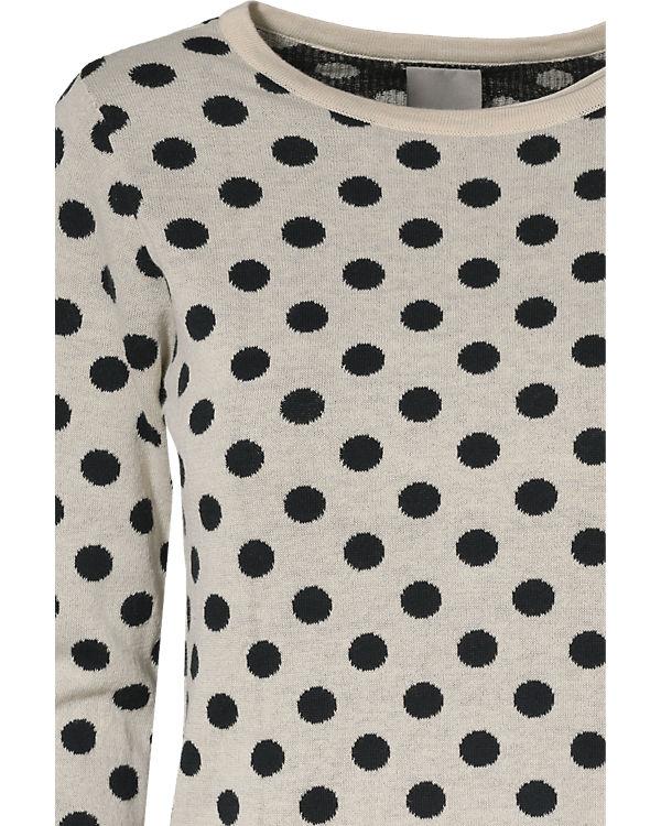 VERO MODA Pullover schwarz/beige