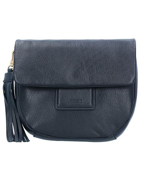 Bree Jersey 1 Umhängetasche Leder 22 cm schwarz