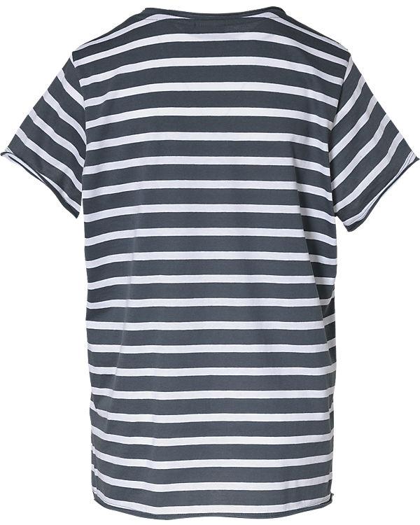 JUNAROSE T-Shirt blau/weiß