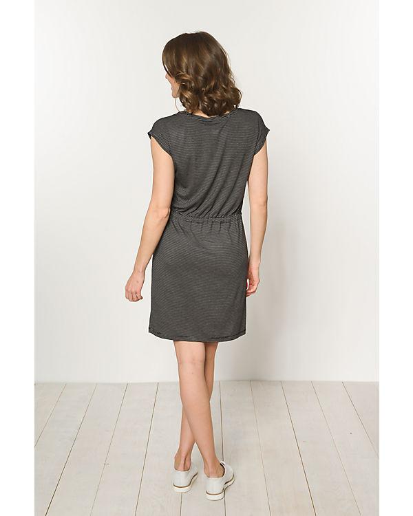 pieces Jerseykleid schwarz/weiß