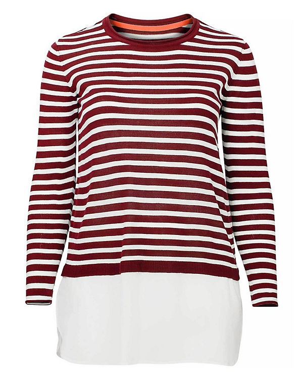 sheego sheego 2 in 1 Pullover bordeaux