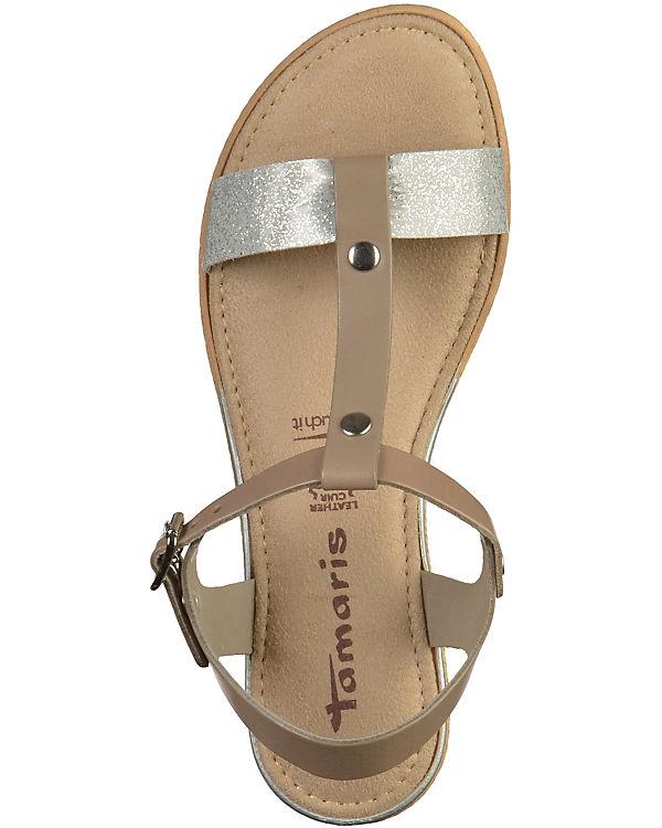 Tamaris Sandaletten beige-kombi