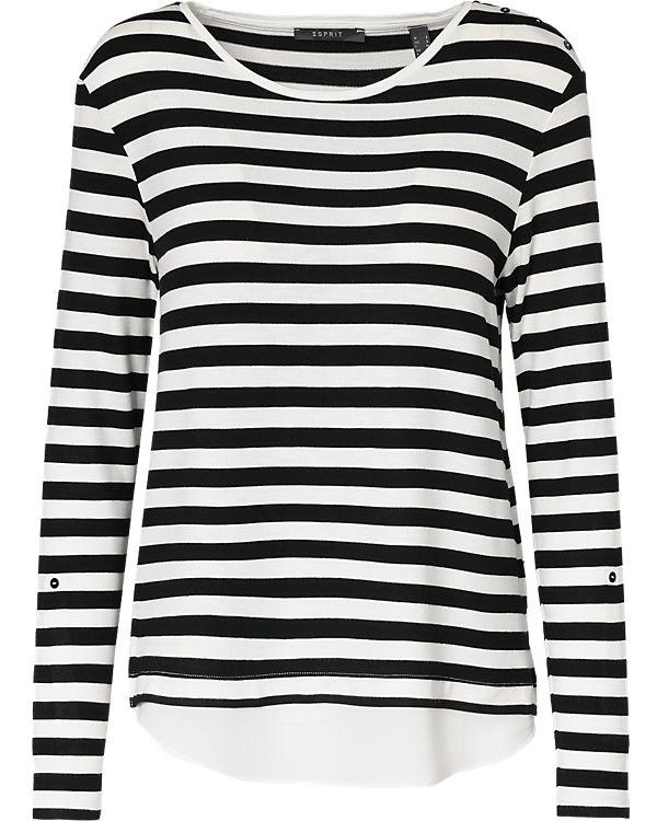 ESPRIT collection Langarmshirt schwarz