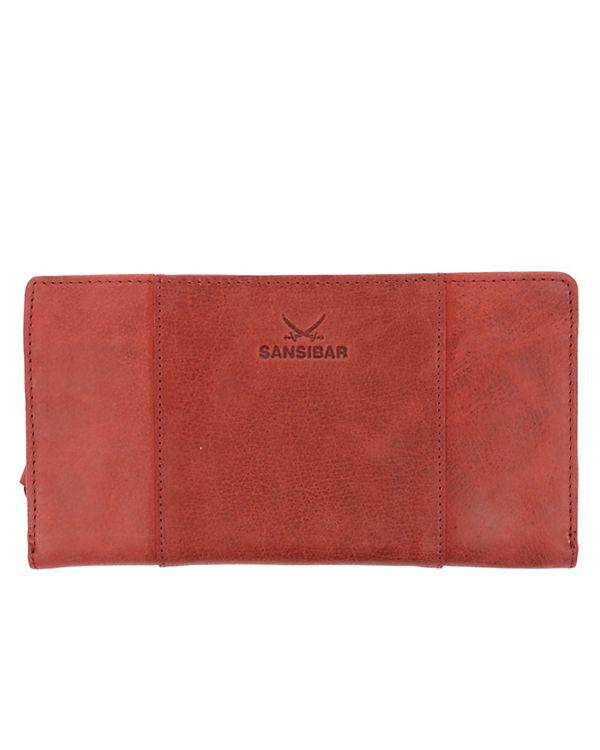 Sansibar Levante Geldbörse Leder 19 cm rot