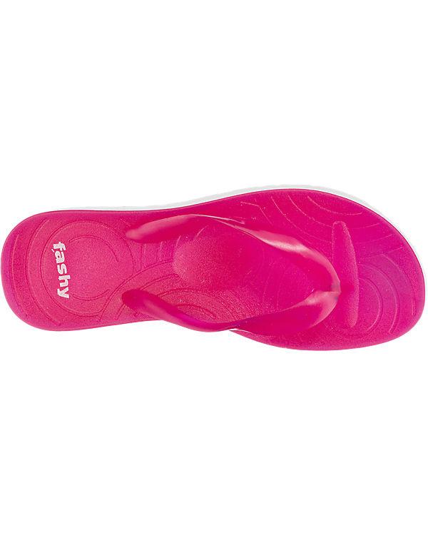 fashy Capri V-Strap Pantoletten pink
