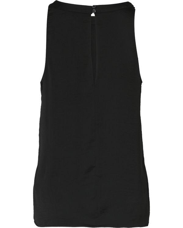 VILA Blusentop schwarz