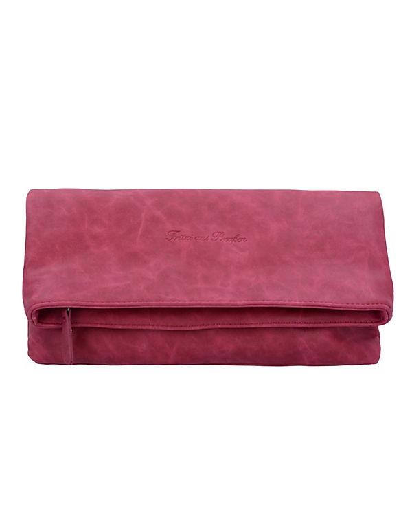 Fritzi aus Preußen Ronja Clas Nubuk Clutch Tasche 29 cm rot