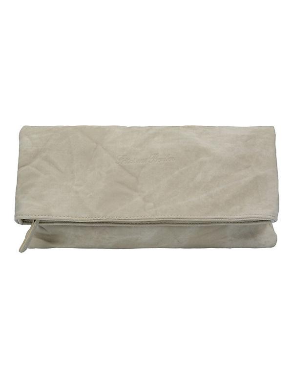 Fritzi aus Preußen Ronja Clas Canvas Clutch Tasche 29 cm beige