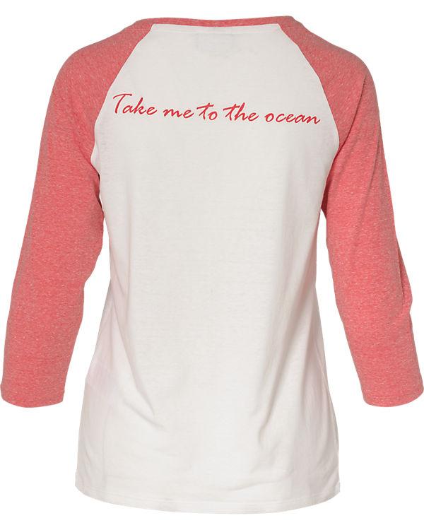 VILA 3/4-Arm-Shirt rot/weiß