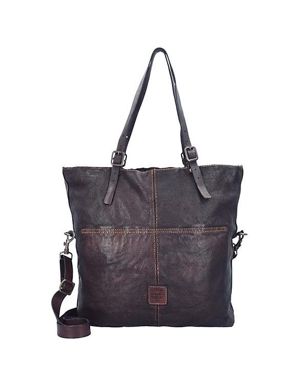 Campomaggi Tarassaco Shopper Tasche Leder 41 cm braun