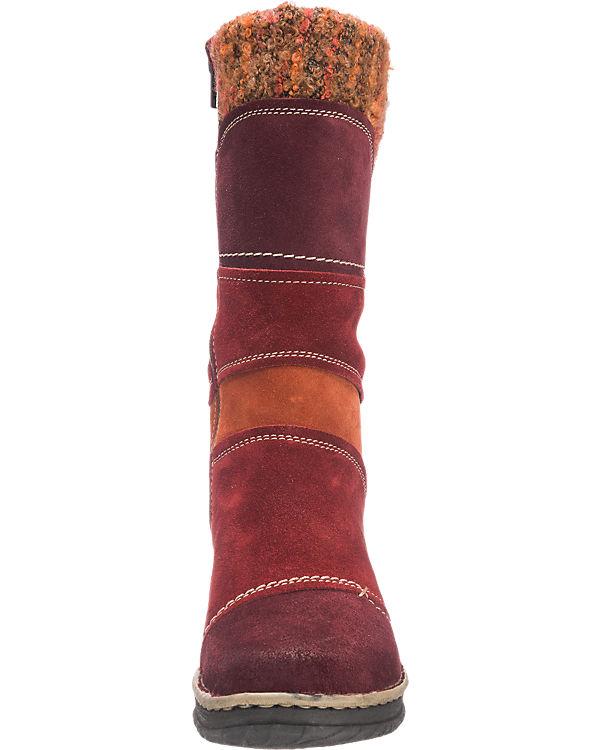 Josef Seibel Kingfisher Stiefel rot-kombi
