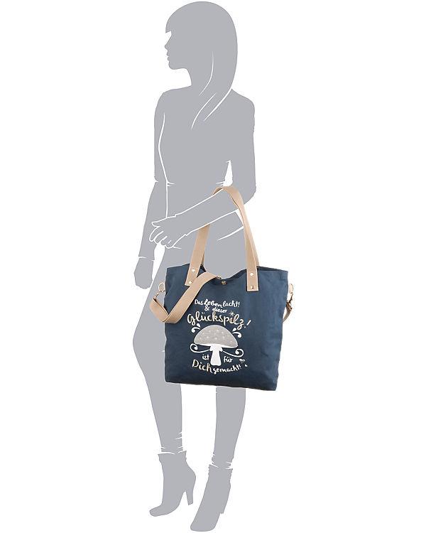 Adelheid Adelheid Glückspilz Shopper blau