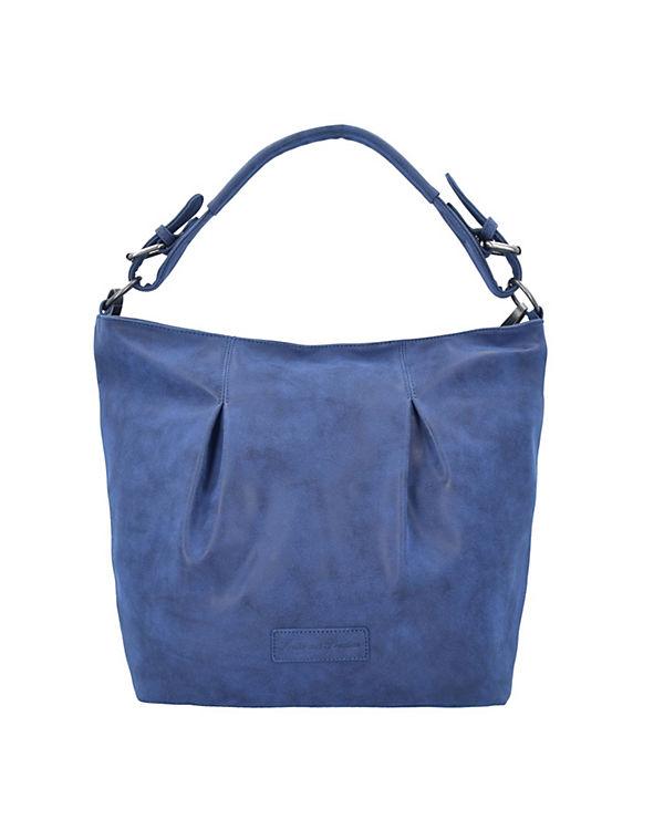 Fritzi aus Preußen Adela Vintage Schultertasche 43 cm blau