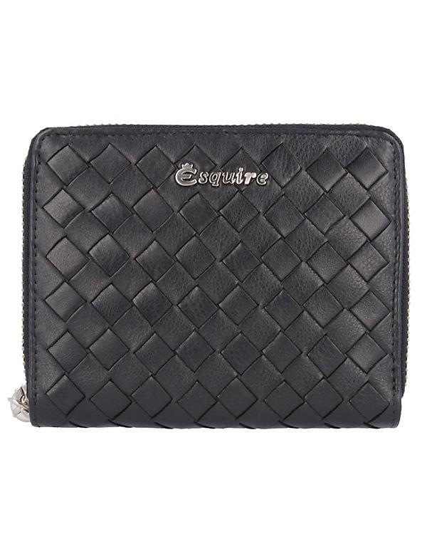 Esquire Firenze Geldbörse Leder 12,5 cm schwarz