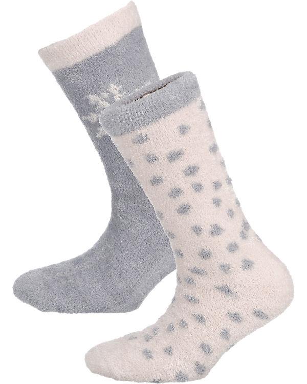camano camano 2 Paar Socken hellgrau
