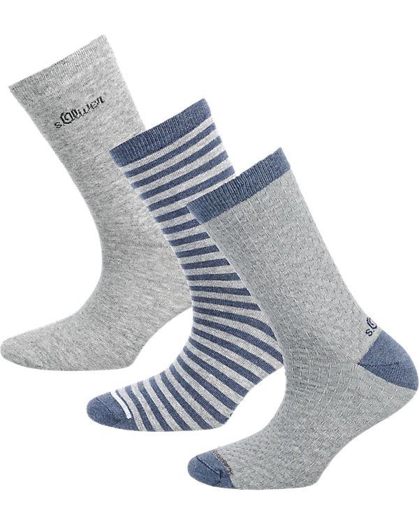 s.Oliver s.Oliver 3 Paar Socken hellgrau