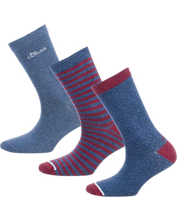 s.Oliver s.Oliver 3 Paar Socken blau