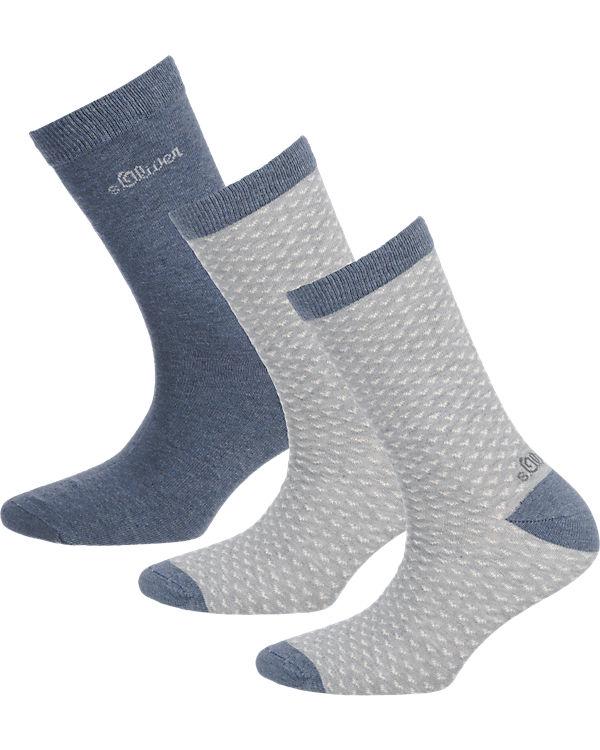 s.Oliver s.Oliver 3 Paar Socken dunkelgrau