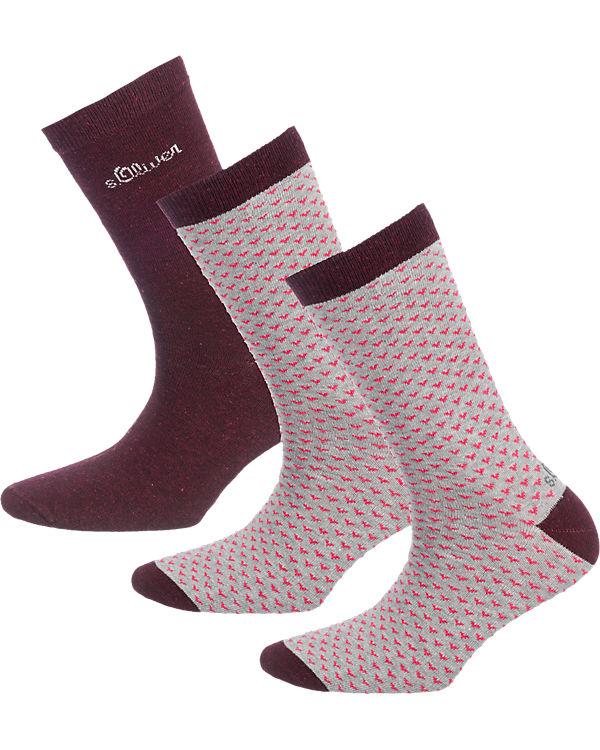 s.Oliver s.Oliver 3 Paar Socken rot