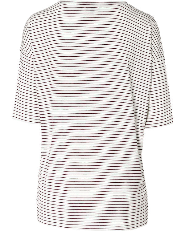 TOM TAILOR T-Shirt dunkelrot