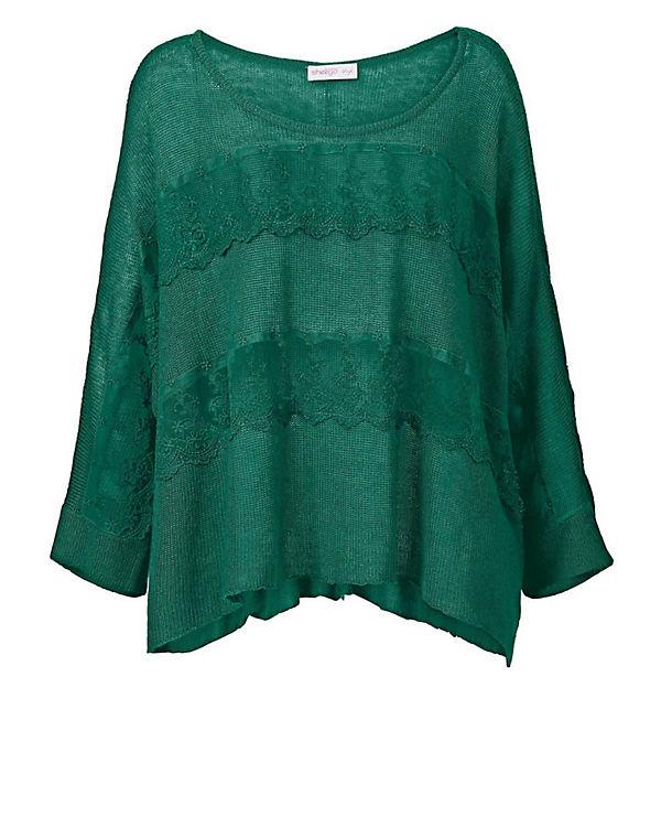 sheego Pullover grün